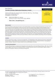 Dachs, Bernhard Innovative Activities of Multinational ... - Peter Lang
