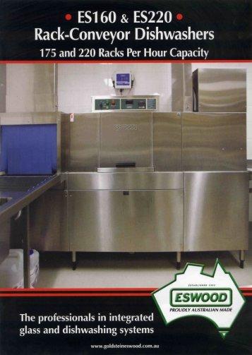 es160 & es220 rack-conveyor washers - Goldstein Eswood