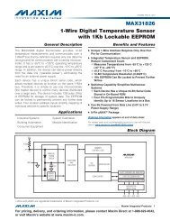 MAX31826 1-Wire Digital Temperature Sensor with 1Kb ... - Maxim