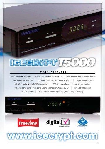T5000 Freeview receiver www.icecrypt.com