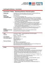 Vorarbeiter Tiefbau - Spezialqualifikation Rohrleitungsbau ...