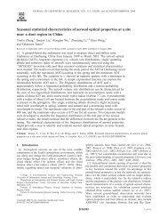 Seasonal statistical characteristics of aerosol optical properties at a ...