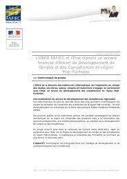 L'OPCA FAFIEC et l'Etat signent un accord financier d'Action de ...