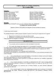 Conseil municipal du 02 juillet 2008 - Saint-Fuscien