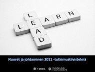 Nuoret ja johtaminen 2011 - Taloudellinen Tiedotustoimisto TAT