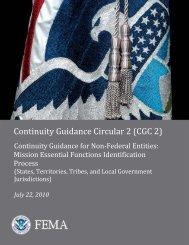 Continuity Guidance Circular 2 - Wyoming Homeland Security