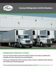 Common Refrigeration Unit Part Numbers