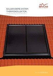 Verlegeanleitung Solarwärme-System Thermokollektor - Braas