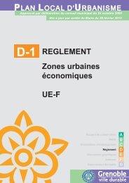 REGLEMENT Zones urbaines économiques UE-F - Ville de Grenoble