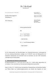 Schriftsatz für die Beschwerdeführer vom 12.11.2007 - Daten ...