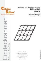 CS 300 M Eindeckrahmen Biber DE V.book - Citrin Solar