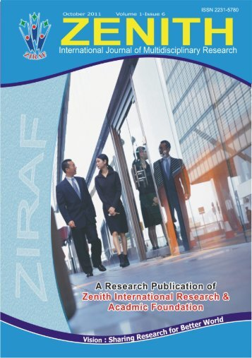Download - zenith international journal of multidisciplinary research