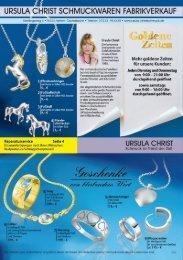 ursula_christ schmuckwaren fabrikverkauf - URSULA CHRIST