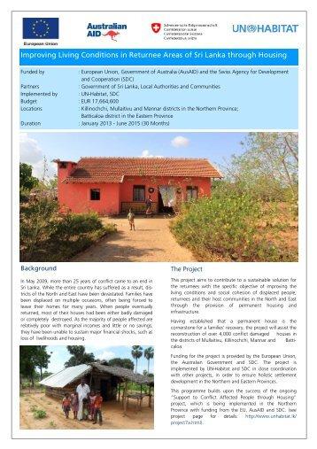 Project Brochure - UN HABITAT