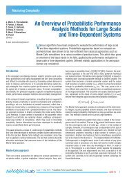 An Overview of Probabilistic Performance Analysis Methods for ...