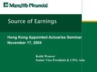 Source of Earnings - Actuarial Society of Hong Kong