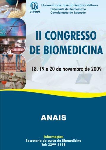 II Congresso de Biomedicina - Unifenas