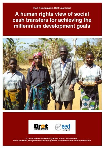 A human rights view of social cash transfers for achieving the ...