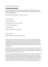 Språklig samlings litteraturpris 2012 til Mona Høvring