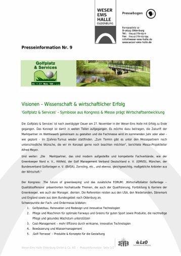 Visionen - Wissenschaft & wirtschaftlicher Erfolg - Greenkeeper ...