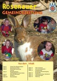 01. Ausgabe 2007 (0 bytes) - Rosenau am Hengstpaß
