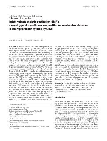 Indeterminate meiotic restitution (IMR) - The Lilium information page