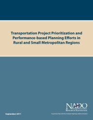Transportation Project Prioritization and Performance ... - NADO.org