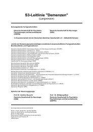 S3-Leitlinie Demenzen - Deutsche Alzheimer Gesellschaft ...