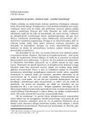 Elżbieta Kałuszyńska UW-M, Olsztyn wprowadzenie do panelu ...