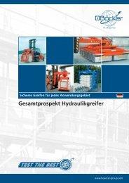 Gesamtprospekt Hydraulikgreifer - Albert Böcker GmbH & Co. KG
