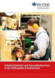Arbeitssicherheit und Gesundheitsschutz in der Orthopädie ...