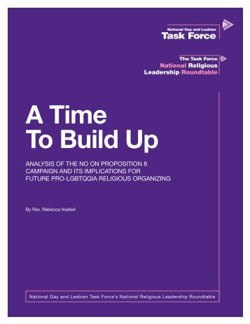 A Time To Build Up - National Gay and Lesbian Task Force