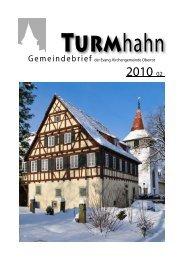 Turmhahn 2010-02 - Evangelischer Kirchenbezirk Gaildorf