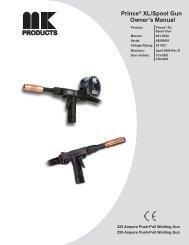 Owner's Manual Prince® XL/Spool Gun - MK Products