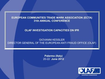OLAF - 31st Annual Conference 20-23 June 2012, Palermo, Italy