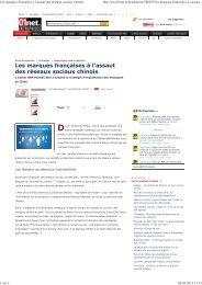 Les marques françaises à l'assaut des réseaux sociaux ... - L'Atelier