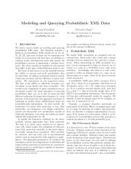 Modeling and Querying Probabilistic XML Data