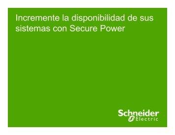 Disponibilidad con Secure Power - Schneider Electric
