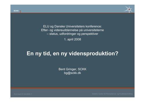 Workshop 3 En ny tid, en ny vidensproduktion - SCKK