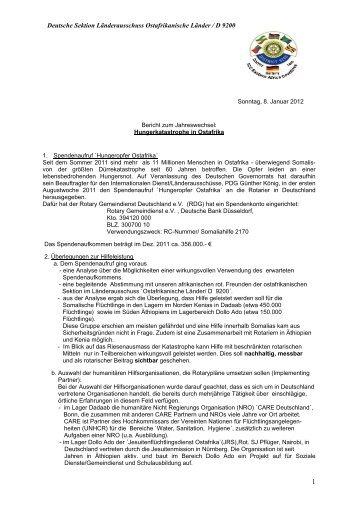 Deutsche Sektion Länderausschuss Ostafrikanische Länder / D 9200