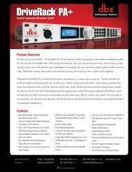 Specifications - Dbx