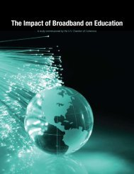 The Impact of Broadband on Education - US Chamber of Commerce