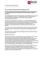 Pressemitteilung Berner Ladenbau übernimmt Mehrheitsbeteiligung ...