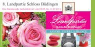 8. Landpartie Schloss Büdingen - Zuspann Finest Catering