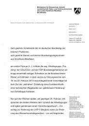 Das Schreiben von Johannes Remmel im Wortlaut - PDF 37kb
