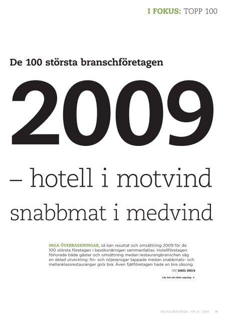 Topp 100 för år 2009 - Visita