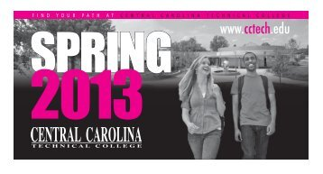 schedule of courses SPRING 2013 - Central Carolina Technical ...
