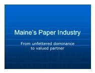 Maine's Paper Industry - Pulp & Paper Foundation