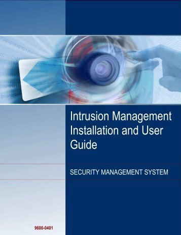 Intrusion Management Installation and User Guide - G4S Technology