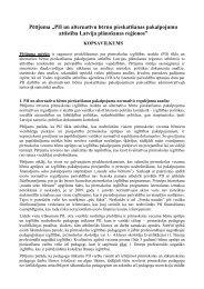 Petijuma kopsavilkums - Valsts reģionālās attīstības aģentūra